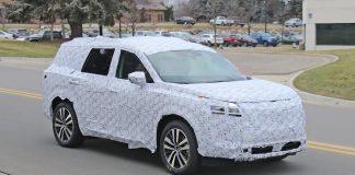2021 Nissan Pathfinder spied