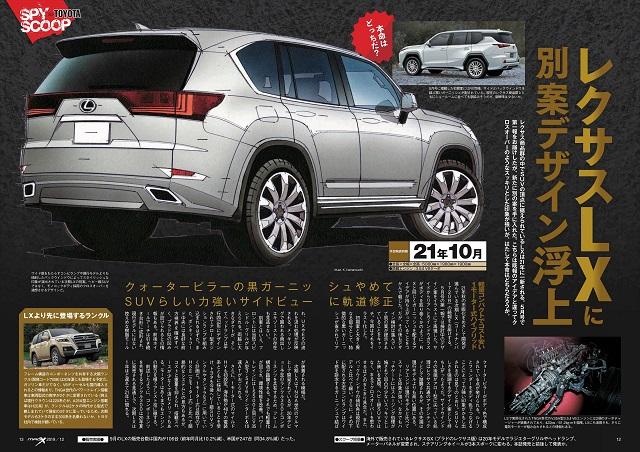 Future Lexus SUVs LX600