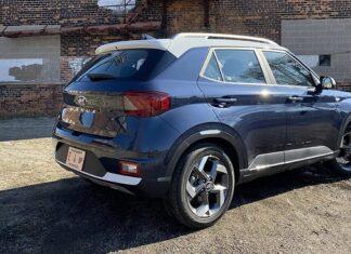 2022 Hyundai Venue denim
